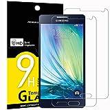 Panzerglas Samsung Galaxy A5 2015, [2 Stück] NEWC® HD Displayschutzfolie 9H Härte, Frei von Kratzern Fingabdrücken und Öl, 0.33mm Ultra-klar, panzerglas schutzfolie für Samsung A5