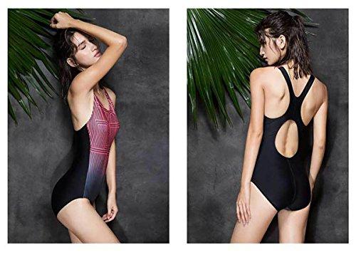 AMYMGLL Frauen professionelle Swim Badeanzug großen Größe Damen Badeanzug schnell trocknenden Europa und den Vereinigten Staaten hoch elastischen Frauen Dreieck Dreieck Badeanzug schwarz bar blau Eise iron ash
