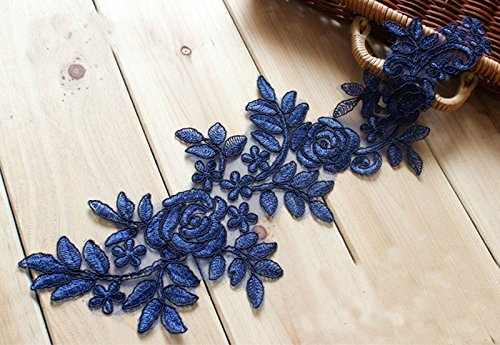 Spitzenborte 8, blau Bridal Lace Applique