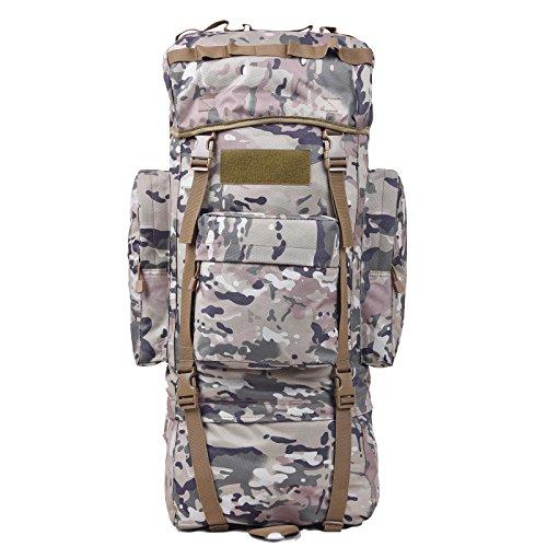 Morral im Freien Wandern Reisetasche 100L Große Kapazität Freizeit Reisen Taschen Sport Taschen-Rucksack für Männer und Frauen zu Fuß CP Camouflage