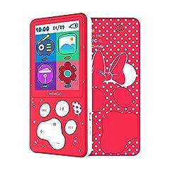 Idea Regalo - MP3 Lettore Schermo 2.4'' HD 8GB Lettore MP4 Bambini con Radio FM, MP3 Bambini Regalo per Ragazze Giochi E-Book Calendario Registratore Vocale
