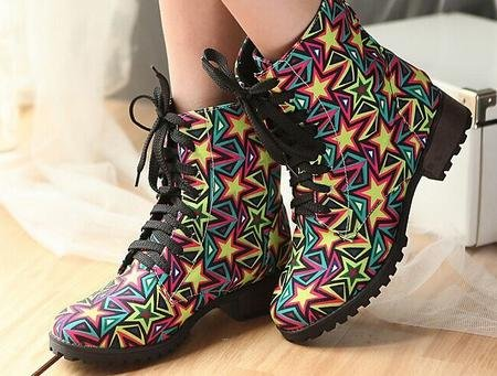 &ZHOU Bottes d'automne et d'hiver courtes bottes femmes adultes Martin bottes Chevalier bottes a30 colors