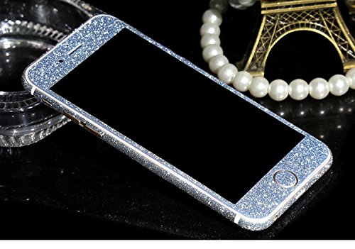 FINOO Adesivo glitterato per iPhone - arcobaleno, iPhone 6/6S Blu