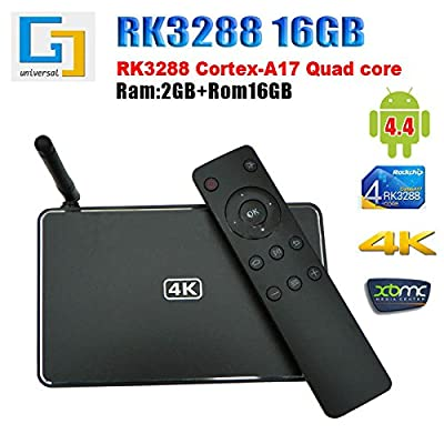 PYRUS TV Box Android 5.1 RK3368 Octa Core Cortex-A53 & 64 bits CPU H.265 Decoding 4Kx2K 60 fps Support XBMC KODI, Netflix Youtube Skype Smart Media Player HDMI 2.0 Technology