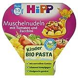 Hipp Muschelnudeln mit Tomaten und Zucchini, Kinder Bio Pasta, 250 g