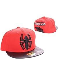 Marvel–Spiderman–Spider et logo Casquette Snapback (Noir/Rouge) _ P