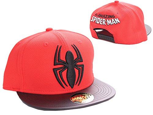 MARVEL SPIDERMAN SPIDER LOGO SNAPBACK CAP (ROJO / NEGRO)