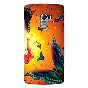 CrazyInk Premium 3D Back Cover for Lenovo K4 Note - Butterfly Fly Glow