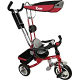 Kiddo Red Smart Design 4-in-1 Childrens Tricycle Kids Trike 3 Wheel Bike Parent