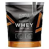 Marca Amazon - Amfit Nutrition Proteína Whey de suero de leche sabor canela, 32 porciones,  990 g