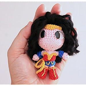 Wonder Woman, Handgemachter Häkel Amigurumi, Stofftier, Geschenk, DC Superheros