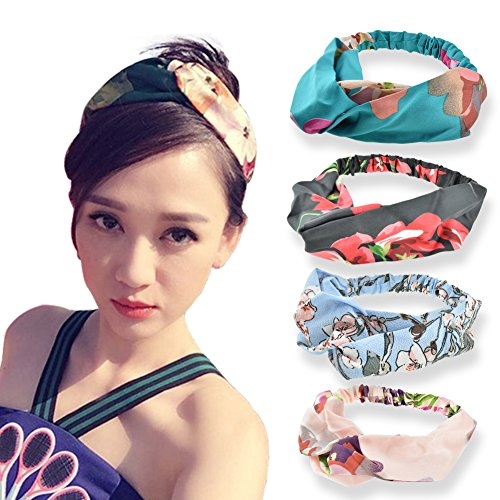 DRESHOW Silk Headbands Vintage E...