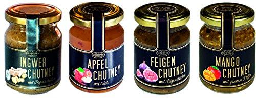 Chutneys (Feige, Mango, Ingwer, Apfel) - Natur pur