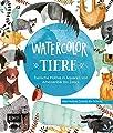 Watercolor-Tiere: Tierische Motive in Aquarell von Ameisenbär bis Zebra: Alle Motive Schritt für Schritt von Edition Michael Fischer / EMF Verlag auf TapetenShop