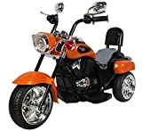 Kidbee American Cruiser Electric Ride On Bike for Kids - Orange