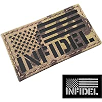 IR Multicam Infrared USA Flag Milspec Tactical Morale Touch Fastener Patch