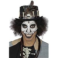 4569c393996210 Wilbers Kostüm Zubehör Voodoo Zylinder mit Schädel Knochen Halloween