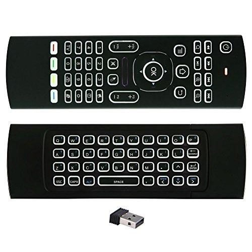 Bluetooth-wirless-tastatur (Balai 2.4GHz Mini Airfly Maus Fernbedienung Multifunktions Wirless Hintergrundbeleuchtung Tastatur & Infrarot Lernen für KODI Smart TV Android TV Box PC HTPC IPTV Media Player)