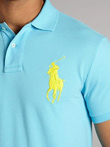 Ralph Lauren Herren Polo - Blau - großer weißer Reiter Türkis
