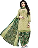 Jevi Prints Women's Dress Material (Rimzim-2007_Olive_Free Size)