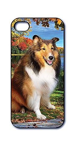 Dimension 9 Slim 3D Lenticular Cell Phone Case for Apple iPhone 5 or iPhone 5s - Shetland Sheepdog Sheltie Dog