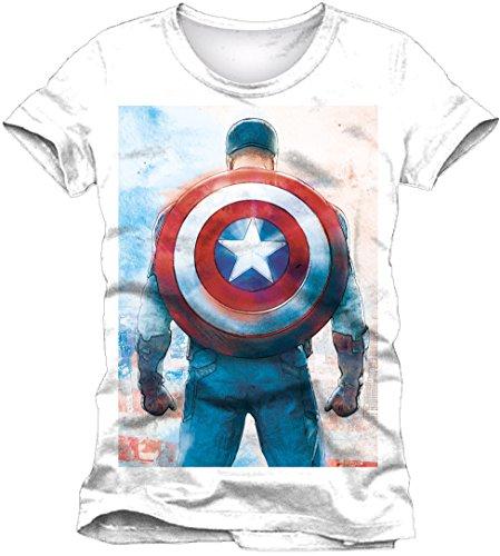 Preisvergleich Produktbild Captain America T-Shirt Shield On Back Größe XL