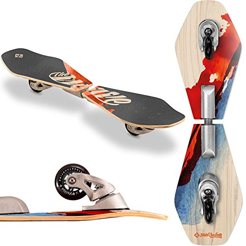 Streetsurfing Wooden Wave Rider, Waveboard Unisex Bambini, Multicolore, M