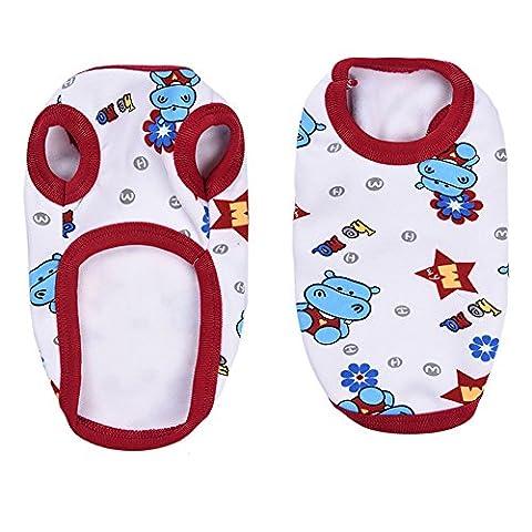 Haustier Hunde Katze Pyjamas mit Nettes Nilpferd Muster, Weich Alle Jahreszeiten Haustier Schlafanzug Jacken für Kleine Hunde - (Nette Katze Kostüme Ideen)