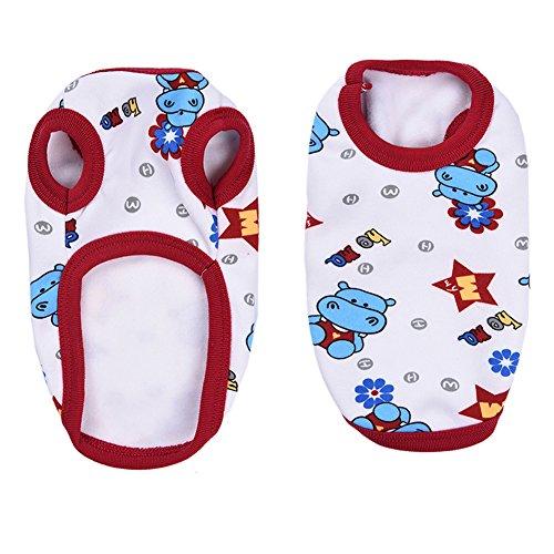 Pyjamas mit Nettes Nilpferd Muster, Weich Alle Jahreszeiten Haustier Schlafanzug Jacken für Kleine Hunde - XXXS/XXS/XS/S (Freund-kostüm-ideen)