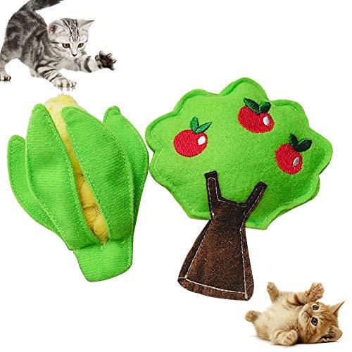 LPxdywlk Haustier-Katzen-Kätzchen-weiche Beißfeste Plüsch-Mais-Baum-Form-klingende Trainings-Spielzeug-Haustier-Versorgungsmaterialien Baum -