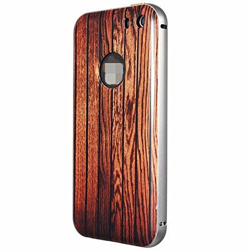 ImprimŽ Cadre en bois Motif en mŽtal Hard Case PC Retour Shell Couverture Pour Apple iPhone 5 5S non. 6