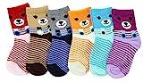 Neska Moda Cotton Ankle Length Multicolor Kids 6 Pair Socks for 1 to 3 Years-SK407