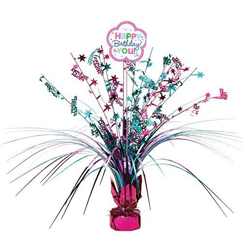 amscan 110252 Happy Birthday Spray Centro de Mesa