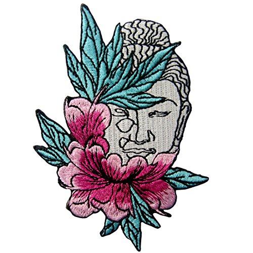 Parche termoadhesivo para la ropa, diseño de Buda y flor de loto