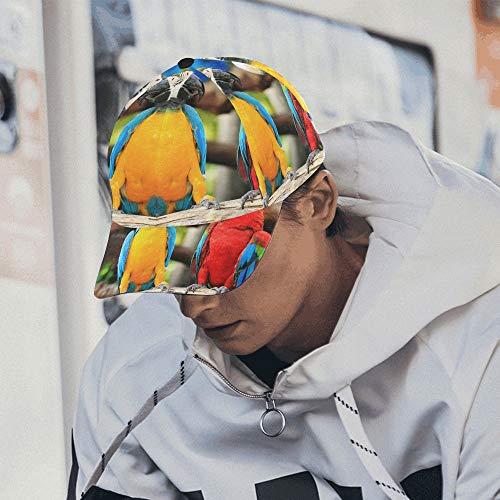 Tropische Bunte schöne Papageien verstellbare Baseballmütze drucken Baseballmütze Papa Hut 100% Baumwolle weich passt Männer Frauen Unisex Hip-Hop Sport Sommer Strand Aktivitäten