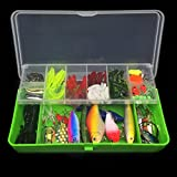 Iuhan Fishing Lures Set Pcs Trout Bass Fishing Lures Crankbaits Set Kit Soft And Hard Bait Hooks Box As The Picture Shows B