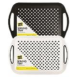 (ITP (O-57789) 1x Rectangular Non-Slip Serving Tray - Black, Grey or White, Colour at Random - Ideal for Dinner / Drinks)