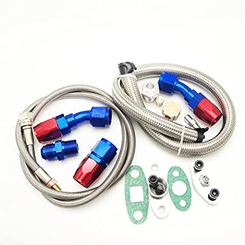 Neuf Turbo Huile vidange Retour avec engrais Line tuyaux kit Fit pour T3T4T04e T60T61T70Turbo