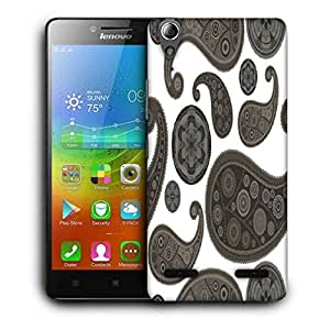 Snoogg Grey Girly Pattern Printed Protective Phone Back Case Cover For Lenovo A6000
