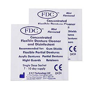 Probe FDC Konzentrierter Prothesenreiniger 2 Beutel – 2 Wochen Vorrat für Valplast Flexible Prothesen und alle anderen Geräte