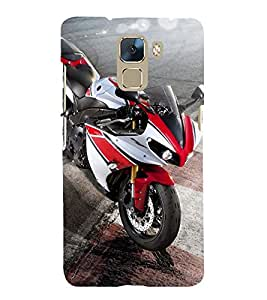 PrintVisa Beautiful Eagle Shaped Bike 3D Hard Polycarbonate Designer Back Case Cover for Huawei Honor 7 :: Huawei Honor 7 Enhanced Edition :: Huawei Honor 7 Dual SIM