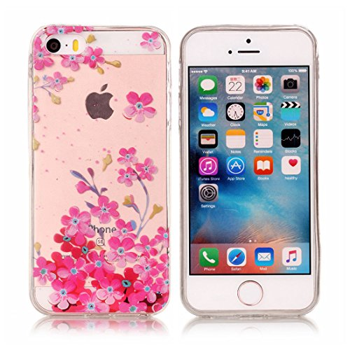 Yaking® Apple iPhone 5/5S Coque Silicone TPU Case Cover Gel Étui Housse pour Apple iPhone 5/5S 4-F