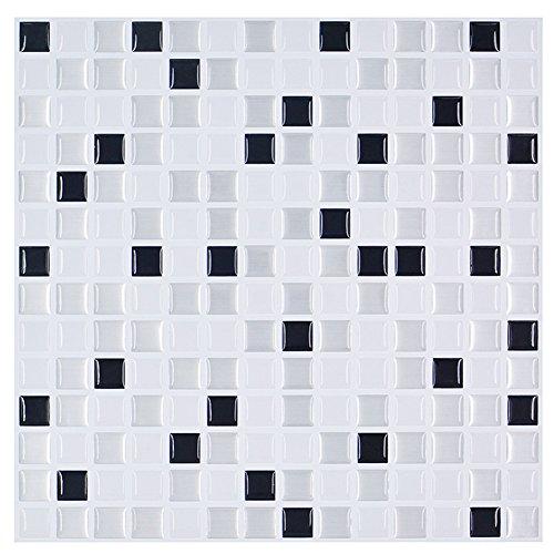 """G&Y Schälen und stick Fliese Backsplash,Selbstklebende ziegel Wandaufkleber 3d,Wasserdicht Pvc-folie 10""""x 10"""",5stück(Mosaik)-A"""
