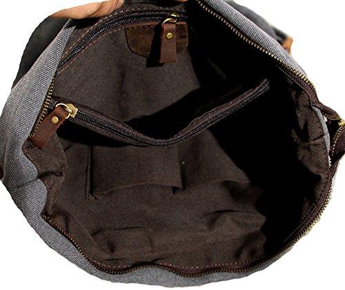 Spalla Da Donna- tela-Borse della borsa delle signore Crossbody Totes Vintage borsa ,Hobo Borse Donna e Uomo da Spalla Borsa Tela College Stile Blu