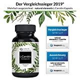 51lXr5%2BcEnL. SL160  - L-Carnitin 3000 - Vergleichssieger 2019* - Premium: Carnipure® von Lonza - 120 Kapseln - Laborgeprüft, hochdosiert, vegan, hergestellt in Deutschland