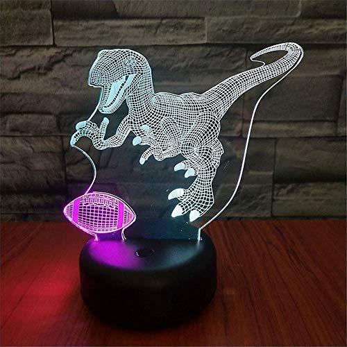 Geschenk für Kinder neue Dinosaurier 3d Nachtlicht buntes Geschenk Schlafzimmer Lampe LED-Licht führte Nachtlicht Auge Muster ## 6 -