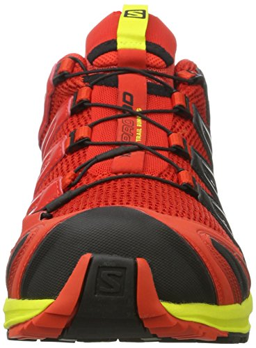 Salomon Xa Pro 3D, Chaussures de Trail Homme Multicolore (Fiery Red/sulphur Spring/black)