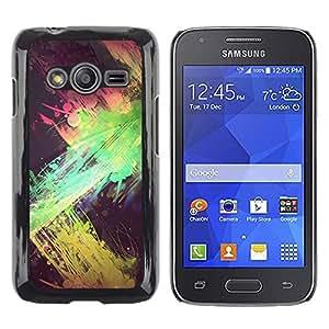 Be Good Phone Accessory // Hartschalen Handyhülle Schutzhülle Schutz Etui Hülle für Samsung Galaxy Ace 4 G313 SM-G313F // green splatter paint street art yellow
