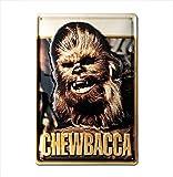 Star Wars - Chewbacca Bleschilder Retro - Blechschild Vintage Film - 20x30 - Lizenziertes Originaldesign - LOGOSHIRT