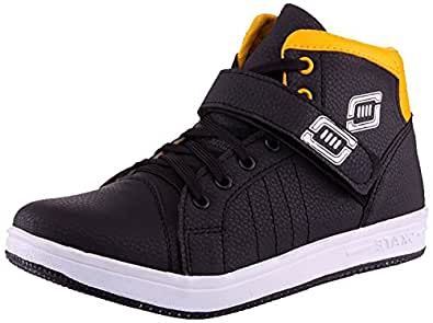 Freedom daisy YELLOW BLACK VELCRO CASUAL Men's Synthetic Shoes (7)